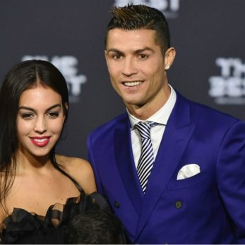 ronaldo and his wife wallpaper
