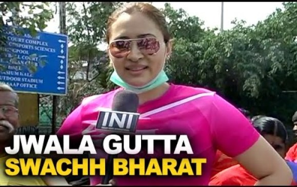 jwala guttha on swatchh bharat mission