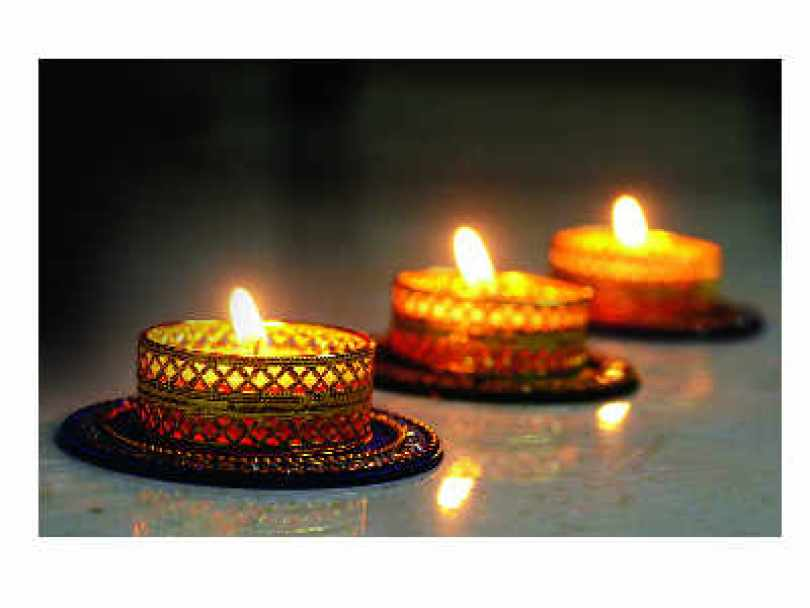 diwali image with glass