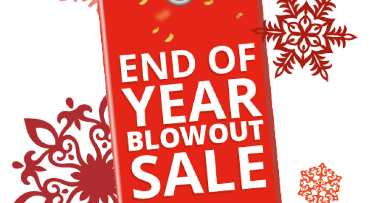 kick of year end sale