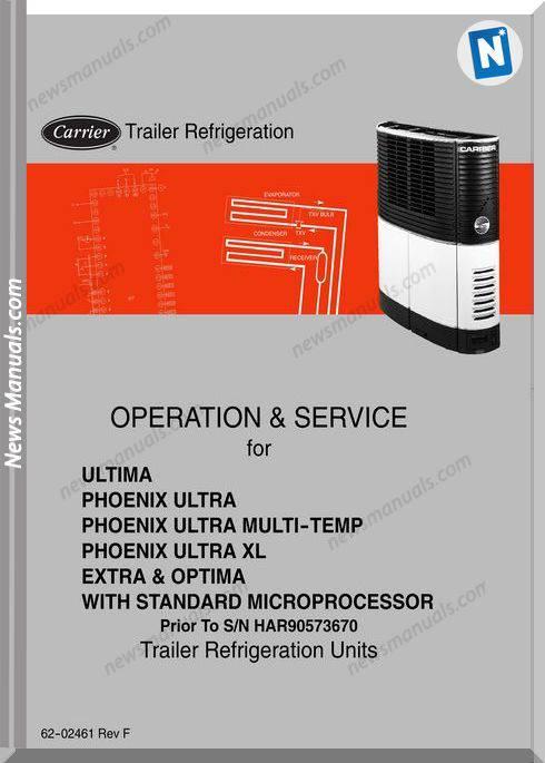 Carrier Trailer Refrigeration Operation Manual