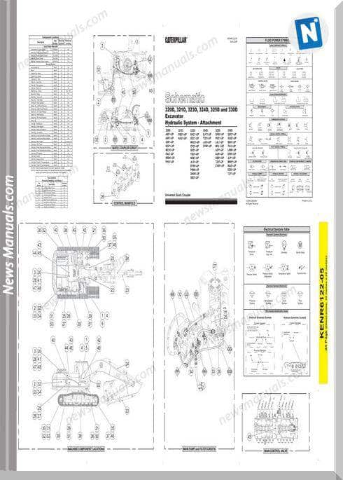 Caterpillar 320D,321D,323D,324D,325D,330 Wiring Diagram