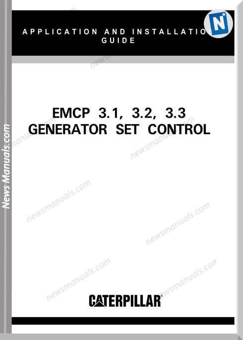 Caterpillar Emcp31 32 33 Setcontrol Training Manual
