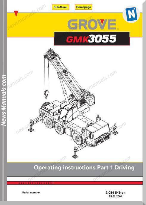 Grove Mobile Crane Gmk 3055 Models Operation Manual
