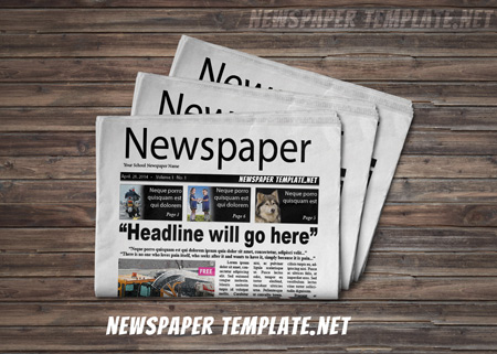 Newspaper Template, Microsoft Word Newspaper Templates for Kids - Newspaper Headline Template
