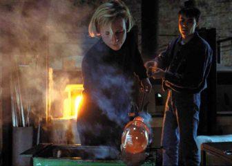 Glasmacher bei der Arbeit. Foto: LWL