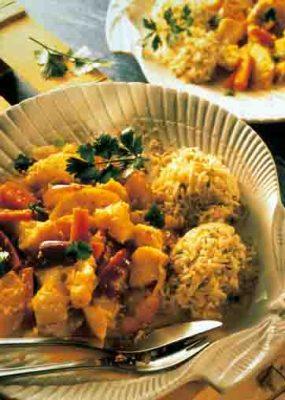 Fisch-Curry. Foto: Wirths PR