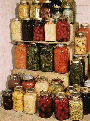 Einmachgläser Bunte Vielfalt: Gemüse und Obst sind bereit zum Verzehr. Die Besucher lernen am Sonntag nicht nur Wissenswertes über das Einmachen, sie dürfen auch probieren und beim Kohlhobeln helfen. Foto: Wikipedia