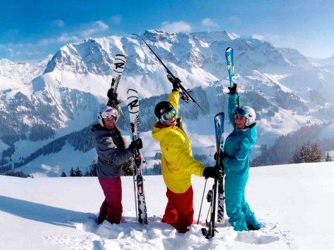 Skifahren in Adelboden  Foto: © Christof Sonderegger / Adelboden Tourismus