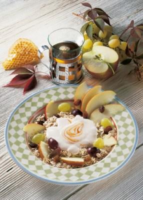 Früchtemüsli Apfel-Traube Foto: Wirths PR