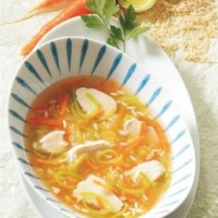 Hühnersuppe mit Reis (cholesterinarm)