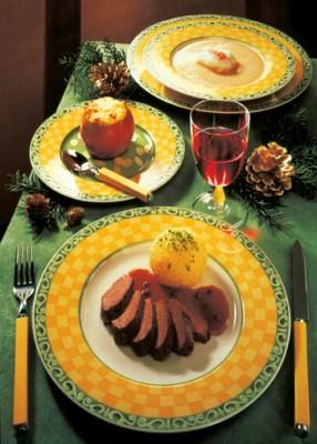 Weihnachtsmenü Hasenfilet mit Camembert-Knödeln Foto: Wirths PR