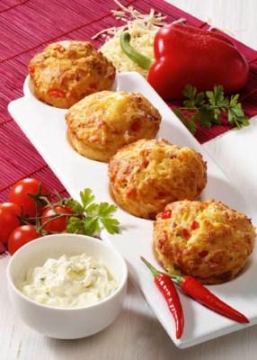 Pikante Vollkorn-Muffins (für Diabetiker) Foto: Wirths PR