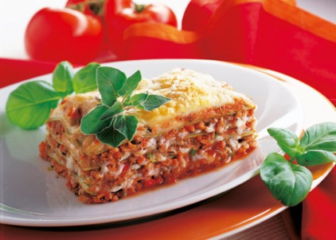 Soja-Lasagne (cholesterinarm) Foto:  Hensel/Wirths PR