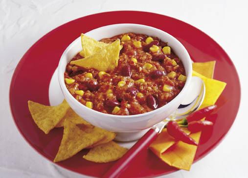 Vegetarisches Chili con carne (cholesterinarm) Foto: Hensel/Wirths PR