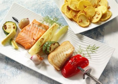 """Diät-Rezept: Fischspieß """"Provencal"""" Foto: www.1000rezepte.de"""