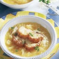 Französische Zwiebelsuppe (Rezept für Diabetiker)