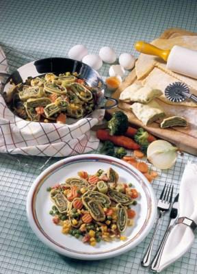 Gemüsepfanne mit Maultaschen Foto: www.1000rezepte.de
