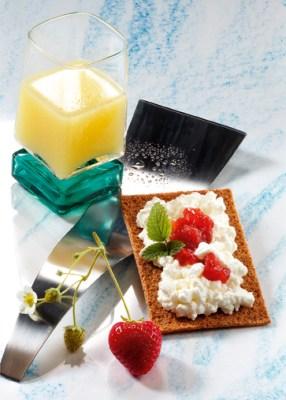 Diät-Rezept: Knusperknäcke mit Molkedrink Foto: Wirths PR