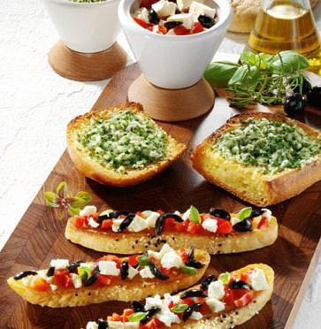 Käse-Rezepte: Bruschetta rusticale Foto: Wirths PR