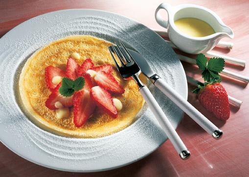 Erdbeer-Pfannkuchen (laktosefrei)