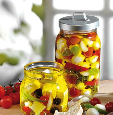 Käse-Rezepte: Feta und Mozzarella in Olivenöl