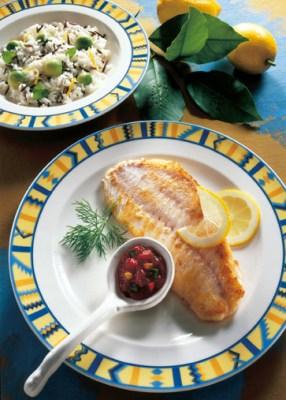 Reis-Rezepte: Fischfilet á la Mexicana mit Avocadoreis Foto: Wirths PR