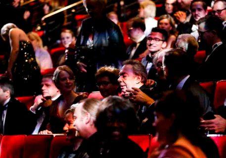 Andrew Lloyd Webber bei der  Premiere von dem Musical 'DAS PHANTOM DER OPER' im Theater Neue Flora in Hamburg am 28.11.2013. Foto: Stage Entertainment/Morris Mac Matzen