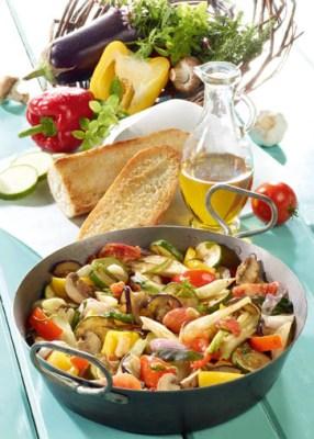 Schnelle Rezepte: Mediterrane Gemüsepfanne Foto: Wirths PR