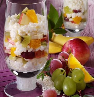 Schnelle Rezepte: Milchreis mit frischem Obst Foto: Wirths PR