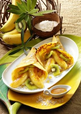Schnelle Rezepte: Pfannkuchen mit Honig-Bananen Foto: Wirths PR