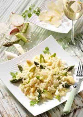 Reis-Rezepte: Spargel-Risotto Foto: Wirths PR