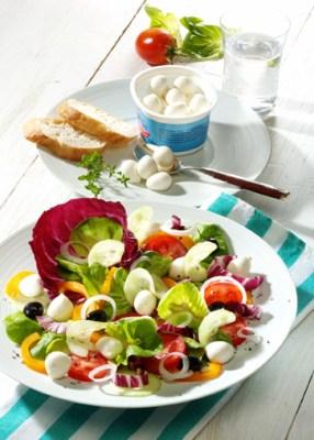 Diät-Rezept: Vitaminsalat mit Mozzarella Foto: Wirths PR