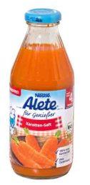 Nicht verkehrsfähig: Der Alete für Genießer Karotten-Saft, Bio. Er enthält einen Stoff, der auch in Desinfektionsmitteln wirkt. Foto: ÖKO-TEST