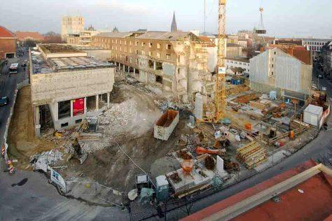 Abriss des alten Erweiterungsbaus, Blick vom Aegidii-Haus (2009), Foto: LWL/Deiters-Keul