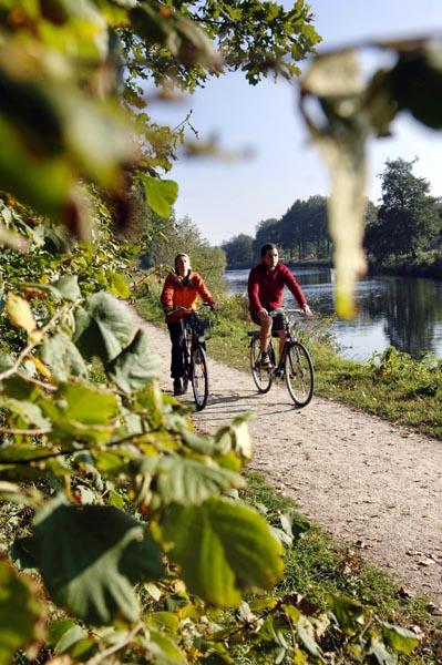 Entlang der Ems führt einer der beliebtesten Radwege des Münsterlands, der EmsRadweg. Foto: Münsterland e.V.