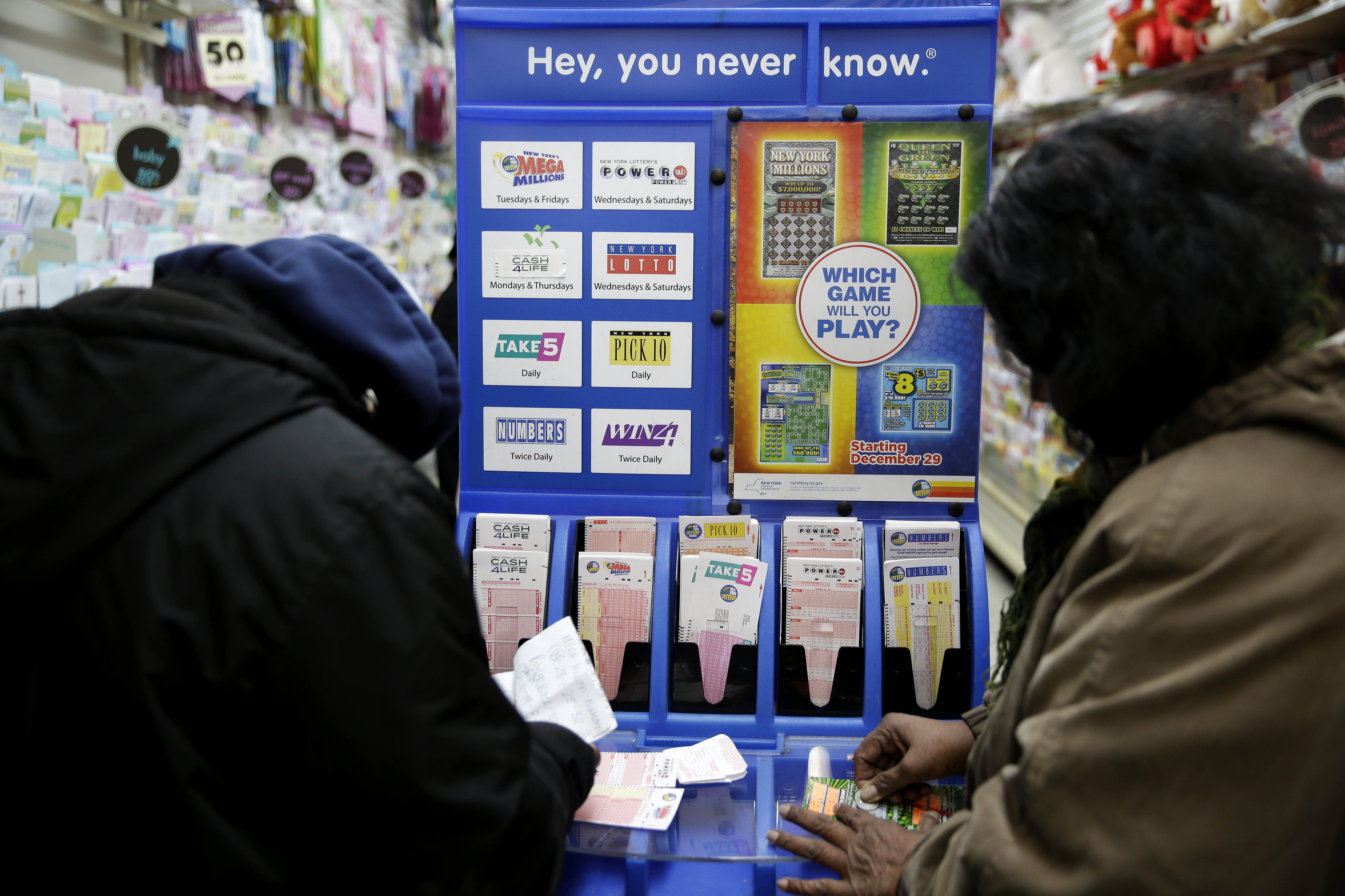 Lottery officials say the Powerball jackpot has grown to $1.4 billion dollars. (AP Photo/Seth Wenig)