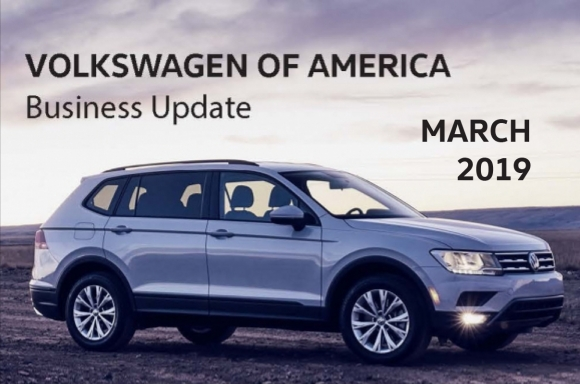 VOLKSWAGEN OF AMERICA REPORTS FEBRUARY 2019 SALES RESULTS