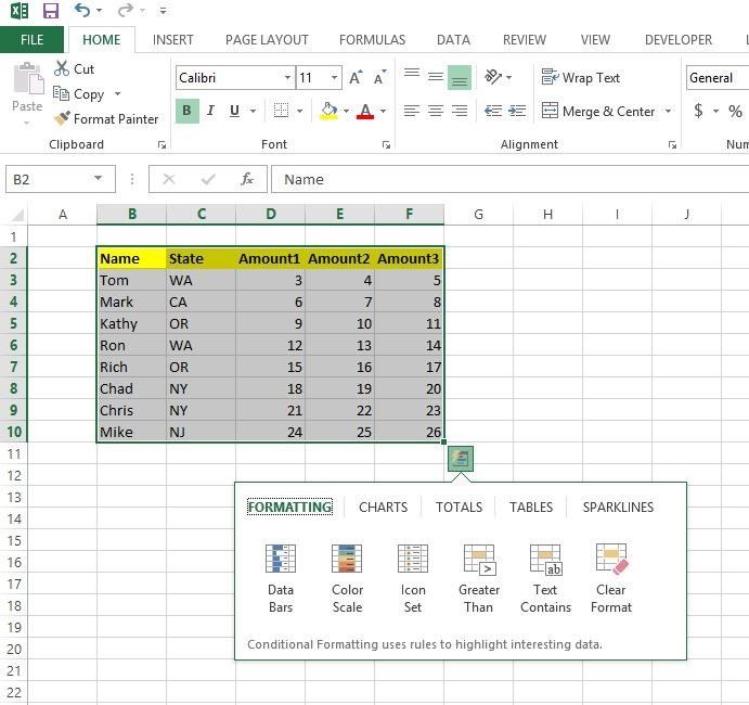 Tips, Tricks  Other Helpful Hints Quick Analysis with Excel