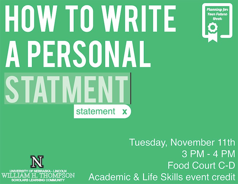 How to Write A Personal Statement Announce University of