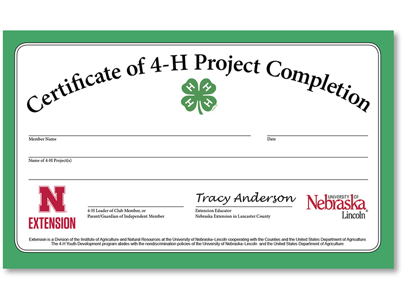Project Completion Certificates Available Announce University of - certificate for project completion