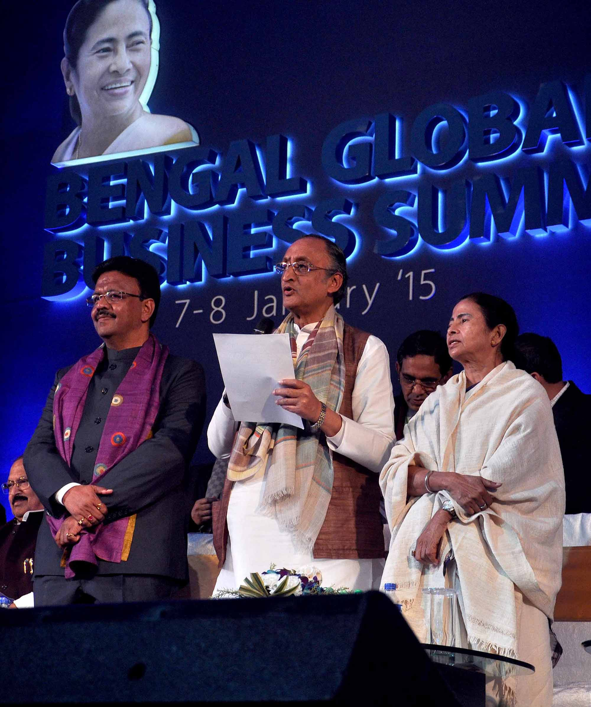 Mamata-Amit-Firad-in-Bengal-Global-Business-Summit-at-Salt-lake-stadium-area-1