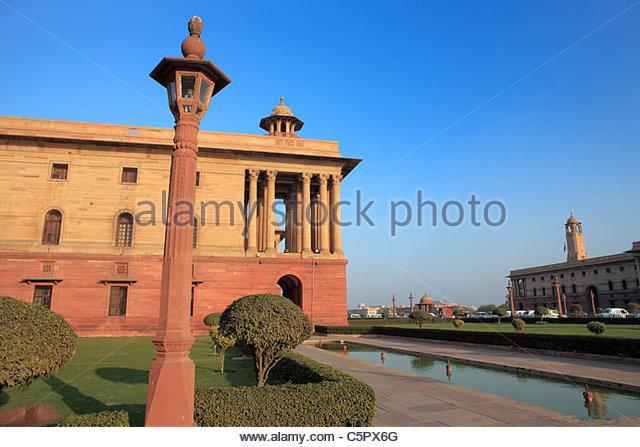 new-delhi-north-and-south-blocks-architect-herbert-baker-1930-delhi-c5px6g