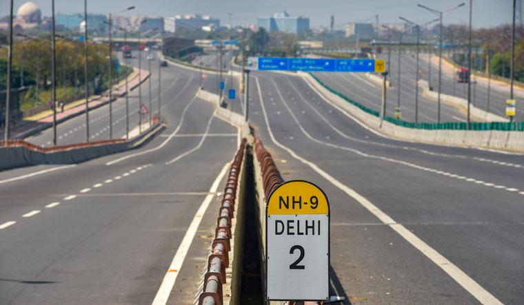delhi-road-coronavirus-pti
