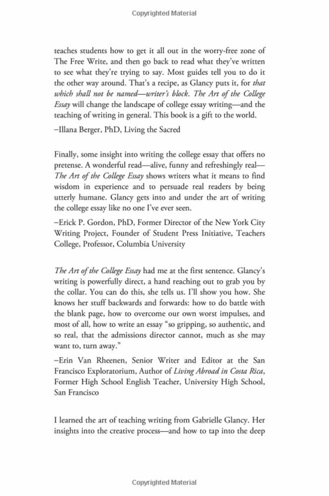 New Vision Learning \u2013 The Art of the College Essay (eBook)