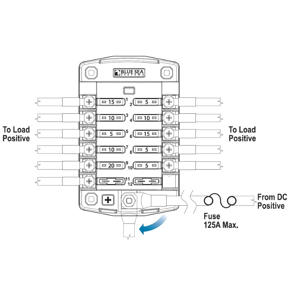 protective wiring diagram auto electrical wiring diagram12 circuit marine grade fuse block
