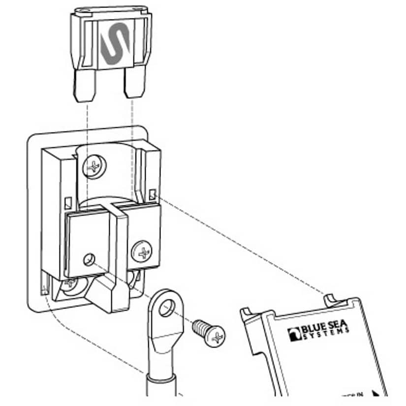 single fuse box holder handy