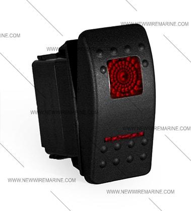 ON-OFF-ON Rocker Switch Waterproof Carling Contura II Illuminated