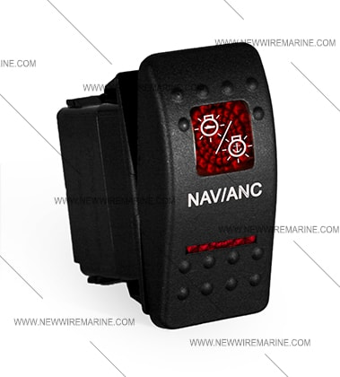 Nav Anc Rocker Switch Carling Contura II Illuminated New Wire