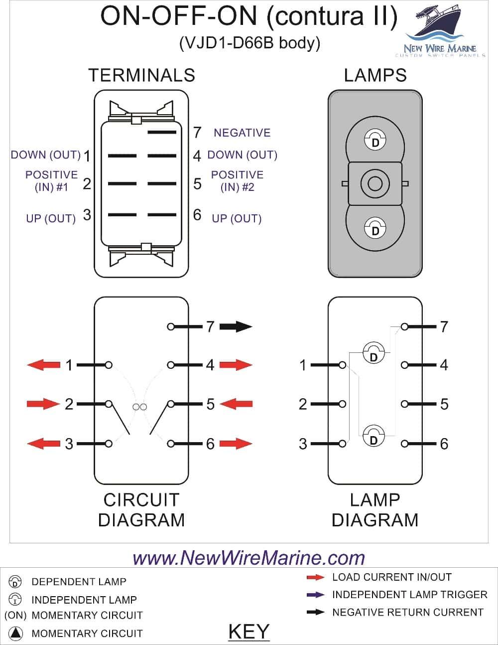contura v rocker switches wiring diagram